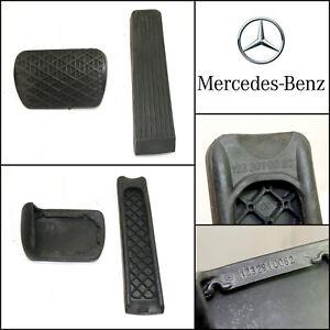 Genuine Mercedes Benz W126 W124 W201 Brake & Accelerator Rubber Pedals