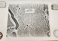 NASA Apollo 15 Hadley Apennine Preliminary Traverse Map August 2, 1971