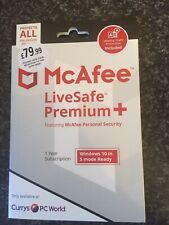 MCAFEE LiveSafe Premium+  2020 - 1 year for unlimited devices