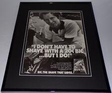 John McEnroe 1983 Bic Shavers 11x14 Framed ORIGINAL Vintage Advertisement