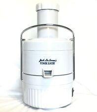 Jack Lalanne Power Juicer Extractor White Centrifugal Vegetable Cl-003Ap 4qt Euc