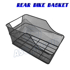 Rear Black Mesh Wire Fixed Mounted Bike Bicycle Basket Carrier Rack