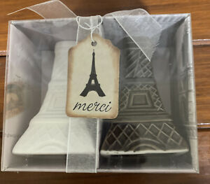 Paris Eiffel Tower Salt & Pepper Shakers New In Box With Tag