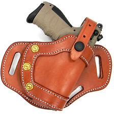 """CEBECI Brown Leather RH Small of Back SOB OWB Belt Holster - RUGER SR22 3.5"""""""