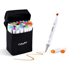 100/80/60/40 Colors Permanent Marker Pens Highlighters Dual Tips Art Sketch
