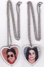 Michael Jackson Collier Chaîne Pendentif COEUR HEART Necklace Chain Pendant
