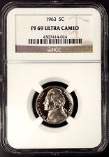 1963 Proof Jefferson Nickel certified PF 69 Ultra Cameo by NGC!
