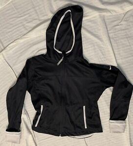 Womens Nike Running Dri Fit Hoodie XS 0-2 Black/White