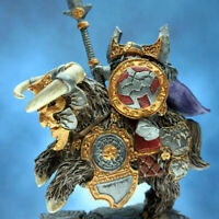 Painted Scibor Miniature Dwarf General on Mountain Ram