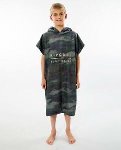 Rip Curl Kids Children HOODED TOWEL PONCHO Beach Surf Towel New - KTWAH9 Green