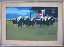 American Original Modern Impressionist Horse Race KY Derby? Exhibited NY Artist