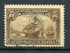 Canada 103i F used 20c brown, Major Re-entry, strong doubling, Scarce CV $400