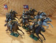 9 Britains Südstaaten zu Pferd, ACW Civil War mounted