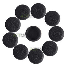 10 PCS Rubber Thumb stick Grip Covers for Sony PS4 PS3 Xbox Controller Black