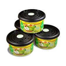 Little Trees Fiber Can Car Air Freshener 4-Pack (Green Apple)