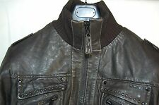SUPPER GORGEOUS !!! ENERGIE  MEN LEATHER BIKER JACKET LARGE