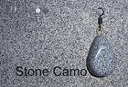 Roca CAMO PLOMO/ANZUELO CABEZA plástico capa de polvo Aparejos Pesca Carpa HLS [
