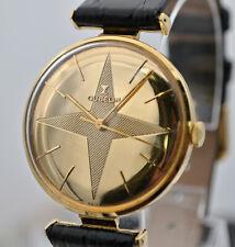 Rare Gubelin 18k Gold Manual-Wind Guilloche Dial Wristwatch