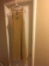 Ralph Lauren Womens Gold Glitter Sleeveless Size Large Dress