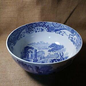 "Spode Blue Italian Countryside Large & Deep 10"" Diameter Serving Bowl"