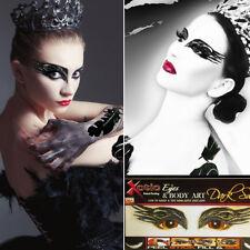 Costume Xotic Eyes Dark Swan Mask Rhinestone Clear Crystals Sequined Eye Makeup