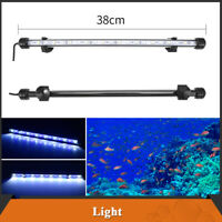 38cm Aquarium Fish Tank LED Light Submersible Bar Strip Lamp Lighting Blue+White
