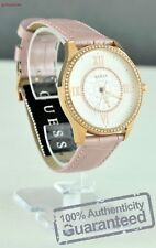 New Guess Designer NWT Ladies Watch Pink Leather Women Real Genuine