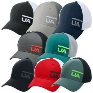 Under Armour Mens Train Spacer Mesh Cap Stretch Fit - UA Golf Gym Baseball Hat