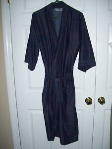Hemingway Point Men Robe One Size 3/4 Sleeve Polyester Paisley Multi-Color # 16