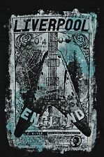 T-SHIRT S SMALL LIVERPOOL ENGLAND UK STYLE GREAT BRITIAN BRITISH GUITAR SHIRT