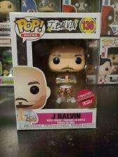 Funko Pop! Rocks J Balvin #136 Exclusive Vinyl Figure With Protector!