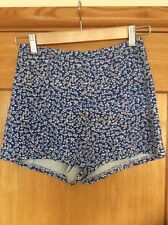 Hollister Shorts Floral Design Size S Blue White Red