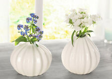 Porzellan Vase Pure White 2er Set, Blumenvase, weiß, Tischdekoration, Dekoration