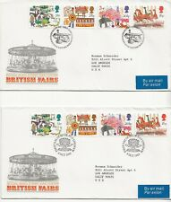 "1983 - Great Britain ""Fairs"" Set - Fdc, Blk/4 - 4 Pairs - 4 Sgls + Info Booklet"