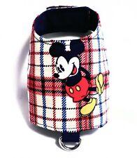 Mickey Mouse Red Blue Newborn Xxxxs Dog Harness Vest Puppy Teacup Baby Yorkie