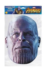 Thanos Marvel Infinity War Official 2D Card Party Face Mask Fancy Dress Up