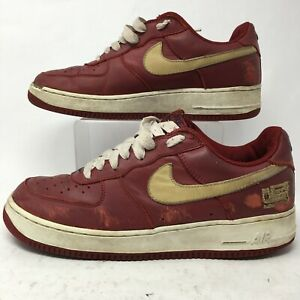 Nike Mens 10 Air Force 1 Lebron James Casual Lace Up Sneakers Red 306353-671