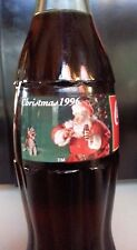 Christmas 1996 COCA-COLA BOTTLE COLLECTIBLE 8OZ.