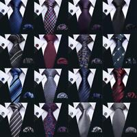 New 25 Colors Mens Silk Necktie Blue Red Yellow Jacqurad Woven Tie Lot Business