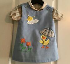Vintage The Frog Pond 2 piece embroidered dress: size 2T