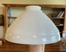 """Vintage White Milk Glass Corning Waffle Torchiere Floor Lamp Shade  #824160  10"""""""