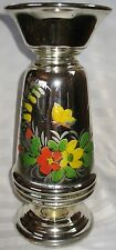 "HUGE 14 5/8"" Antique Mercury Glass Exceptional Vase Mid 1800's"