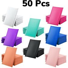 50 Pcs Poly Bags Shipping Bubble Mailers 4x8 Inches Multiple Colors Envelope