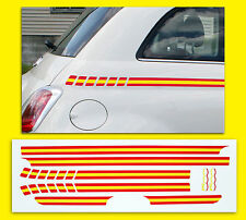FIAT 500 SPANISH Flag side Stripe style Decals Stickers (not Italian)
