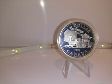 1981 Trans-Canada Railway $1 Canadian Silver Proof Coin
