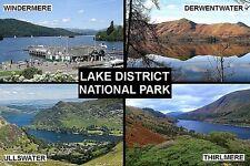 SOUVENIR FRIDGE MAGNET of THE LAKE DISTRICT NATIONAL PARK ENGLAND