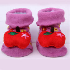 Baby Girl antidérapants Chaussettes Chaussons -fruits-fraise-6 mois-neuf