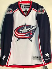 Reebok Premier NHL Jersey Columbus Blue Jackets Team White sz M