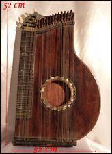 Cithare de Concert Ancienne Trapézoïdale Marqueteries et Incrustations