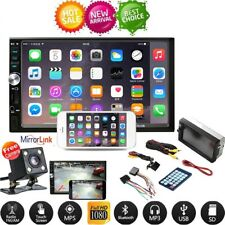 """7"""" Double 2 DIN Car Stereo Radio MP5 Player GPS TFT Touch FM AUX+ Dash Camera"""